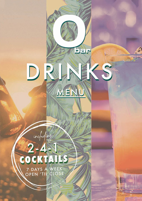 O Bar Packages | Cocktail Menu